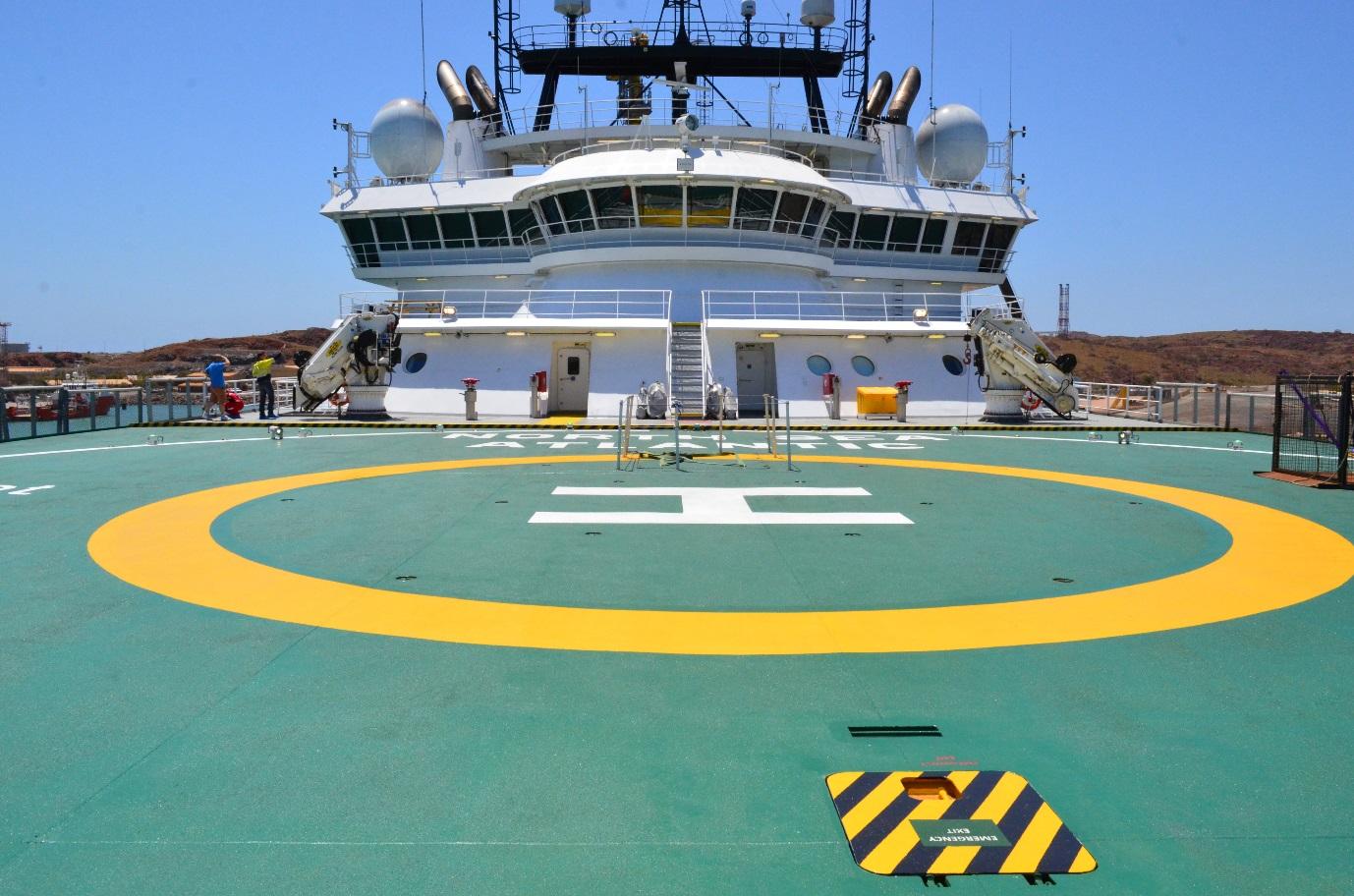 North Sea Atlantic Heli Deck Image